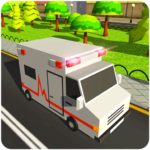 Blocky US Fire Truck & Army Ambulance Rescue Game APK MOD 1.0.6