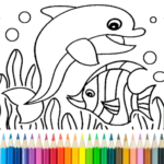 Dolphin and fish coloring book APK MOD 16.2.0