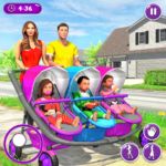 New Mother Baby Triplets Family Simulator APK MOD 1.1.7