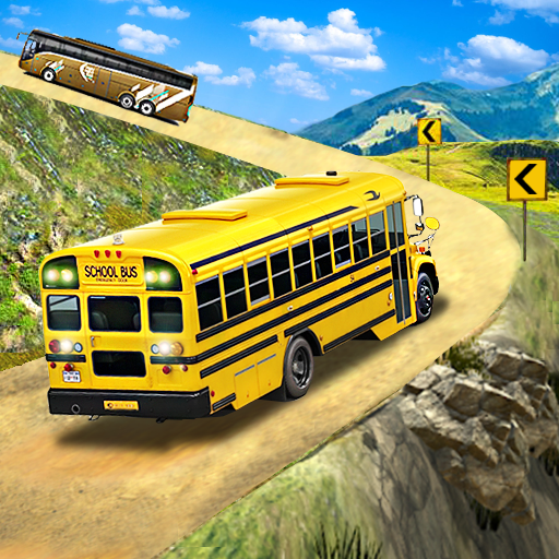 Offroad School Bus Driving: Flying Bus Games 2020 APK MOD 1.48
