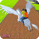 Flying Horse Taxi Driving: Unicorn Cab Driver APK MOD 2.2