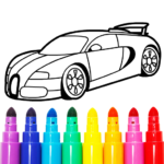 Learn Coloring & Drawing Car Games for Kids APK MOD 9.0
