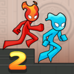 Fire and Water Stickman 2 : The Temple APK MOD 0.3.2